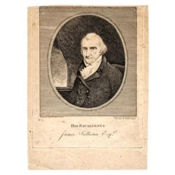 c. 1808 Engraving of His Excellency James Sullivan, Governor of Massachusetts