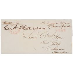 1800s War Department Free Frank Signed Covers