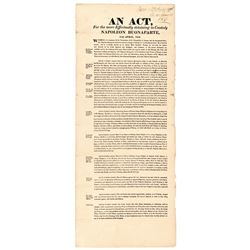 1816 Broadside: Act for the More Effectually Detaining Napoleon Buonaparte