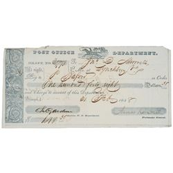 1838-Dated - Wonderful Postal Express Rider Vignette Early Post Form