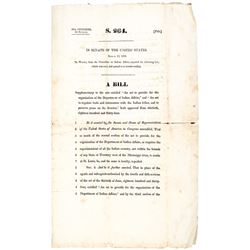 1838 Printing of Bill on Dept of Indian Affairs