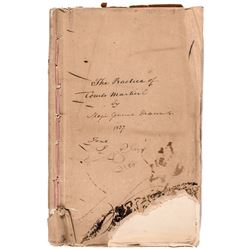 1837 US Army General (Alexander Macomb's) Manuscript for his Courts Martial Book