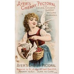 Lot of THREE - AYERS CHERRY PECTORAL Advertising Trade Cards