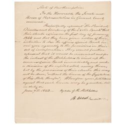 1843 Exeter Bank, New Hampshire Letter Signed, The Bank will Close in One Year!