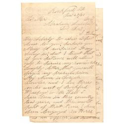 Abraham Lincoln (3) Letter Archive + Neighbor Recounts Early Days In Illinois