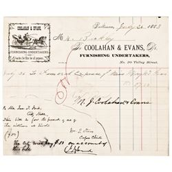 JOHN T. FORD (Fords Theater) Document Signed, 1883