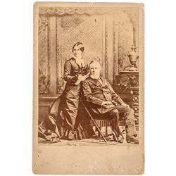 PRESIDENT RUTHERFORD B. HAYES + Wife LUCY WEBB HAYES Cabinet Card Photograph