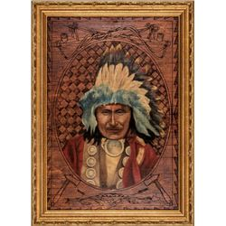 1908 Portrait of Soldiers Lodge Dakota Sioux Tribe, Chief RED OWL (Hehan Duta)