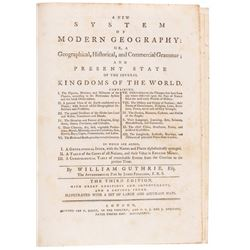 1786 Book: A New System of Modern Geography, Complete 2 Volume Set, All 26 Maps!