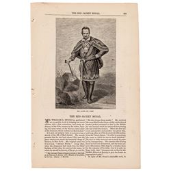 1866 Historic Harper's Magazine Printed Article Regarding - The Red Jacket Medal