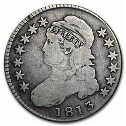 1813 Capped Bust Half Dollar VF Over 200 Years Old