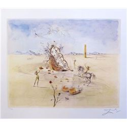 """Salvador Dali PARANOIC VILLAGE Limited Edition Plate Signed Lithograph W/COA  32""""x22"""""""