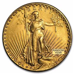 1907 $20 Saint-Gaudens Gold Double Eagle Coin Over 100 Years Old
