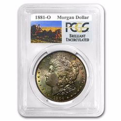 1881-O RARE Stage Coach Series Morgan Silver Dollar BU PCGS Graded in slab