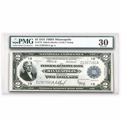 1918 (I-Minneapolis) $2 FRBN Battleship VF-30 PMG EXTREMELY RARE