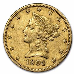 1904-O $10 Liberty Gold Eagle OVER 100 YEAR OLD GOLD COIN