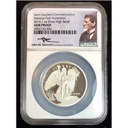 2016 Saint-Gaudens NGC GEM PROOF High Relief, Mercanti Signed