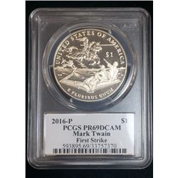 2016-P Mark Twain PCGS PR69 Deep Cameo First Strike