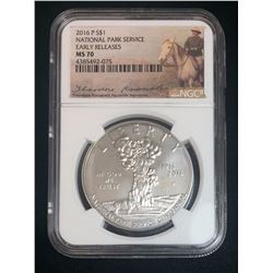 2016 National Park Service NGC MS70 Early Releases