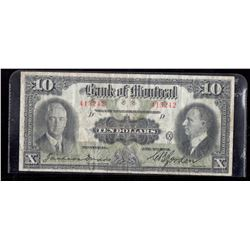 1931 $10 Bank of Montreal Large