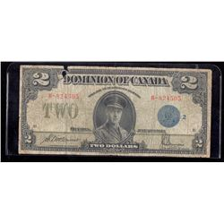 1923 Dominion of Canada $2 McCavour-Saunders