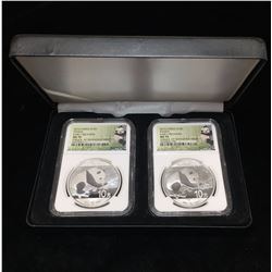 2016 Set of 2 China Panda NGC MS 70 Early Releases