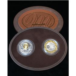2001 $5 100th Anniversary The First Wireless Transmission - Guglielmo Marconi Two Coin Set