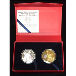 2010 USA Vancouver Olympics SilverPlated, GoldPlated USOC Medal Set