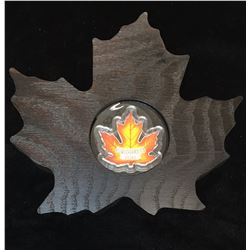 2016 $20 Coloured Maple Leaf - Maple Leaf Shape