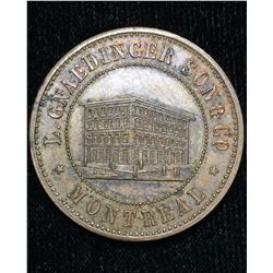 1852 L. Gnaedinger Son & Co Montreal Token