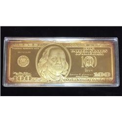 2004 $100 United States Federal Reserve Golden Proof