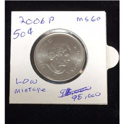 2006P Canadian 50-Cents