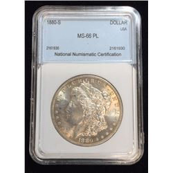 1880-S US Silver Morgan Dollar