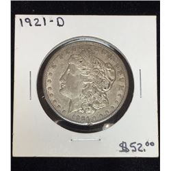 1921-D US Silver Morgan Dollar