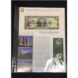 2003 $2 Yosemite National Park Bill & Quarter Collection