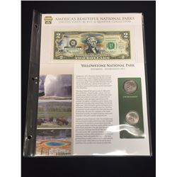 2003 $2 Yellowstone National Park Bill & Quarter Collection
