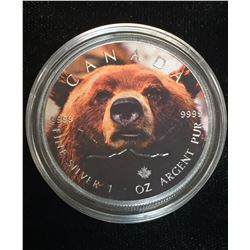 2016 $5 Wildlife - Grizzly Bear