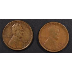 1922-D G/VG & 1924-D FINE LINCOLN CENTS