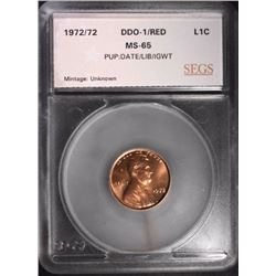1972/72 DOUBLED DIE LINCOLN CENT, SEGS