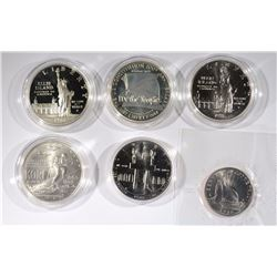 6 Commemorative Dollars and Halves