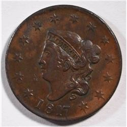 1817 LARGE CENT CH BU+ BROWN