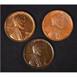 1909 VDB, 1910 & 1927-D LINCOLN CENTS