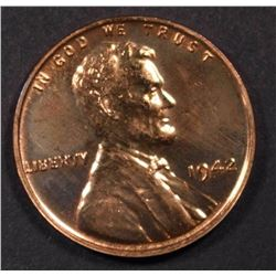 1942 LINCOLN CENT  GEM RED PROOF