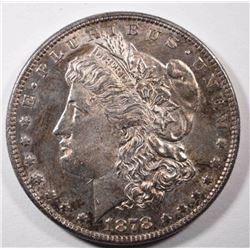 1878 7TF REV 78 MORGAN SILVER DOLLAR - BU