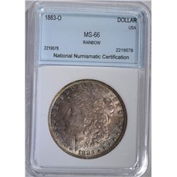 1883-O MORGAN SILVER DOLLAR NNC SUPERB GEM