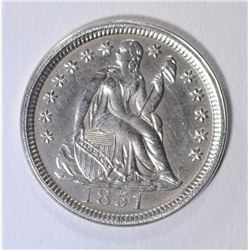 1851 SEATED LIBERTY DIME CH BU WHITE