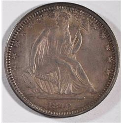 1840-O SEATED HALF DOLLAR CH BU  ORIGINAL