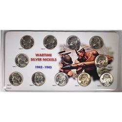 BU SET OF JEFFERSON SILVER WAR NICKELS