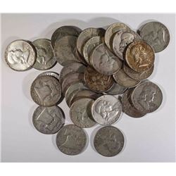 30-CIRC FRANKLIN HALF DOLLARS