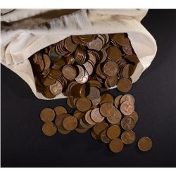 5000 MIXED DATE CIRC LINCOLN WHEAT CENTS IN BAG